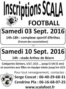 Inscriptions scala 2016